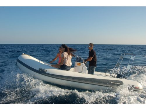 Protender HSF 470 + Evinrude 15 Hp (2016).